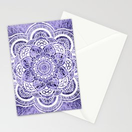 Mandala Lavender Colorburst Stationery Cards