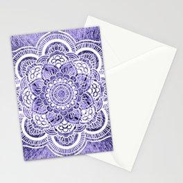 Mandala Lavender Colorburst Stationery Cards