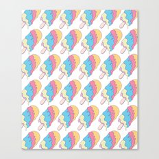 Popsickle Pattern Canvas Print