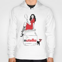 nutella Hoodies featuring Nutella Girl by Martina