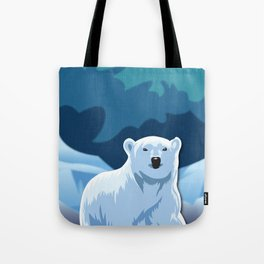 Lonely Polar Bear Tote Bag