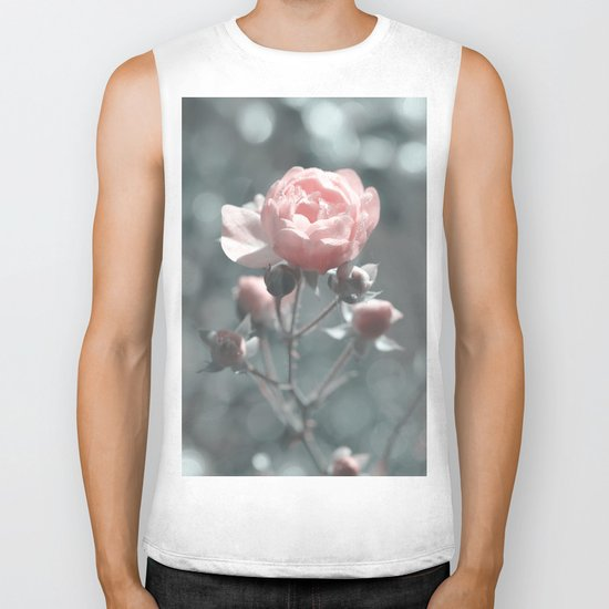 Romantic rose at Backlight- roses Biker Tank