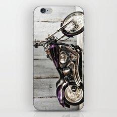 Purple Harley Softail iPhone & iPod Skin