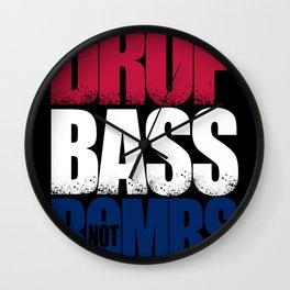 Drop Bass Not Bombs (USA) Wall Clock