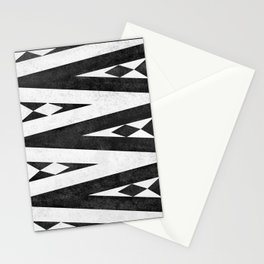 Tribal pattern in black and white. Stationery Cards