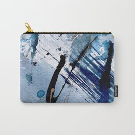 Breathe [2]: colorful abstract in black, blue, purple, gold and white Carry-All Pouch