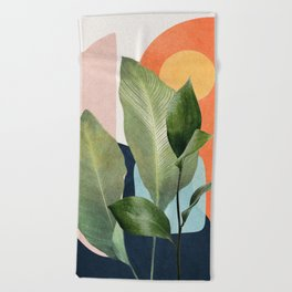 Nature Geometry VII Beach Towel