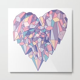 crystal heart ♥ Metal Print