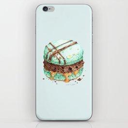 Mint Chocolate Macaron Cake iPhone Skin