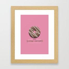 1DONUT - Belgian Chocolate Framed Art Print