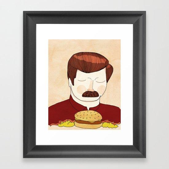 You Had Me At Meat Tornado Framed Art Print