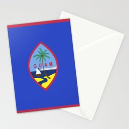 Guam flag emblem Stationery Cards