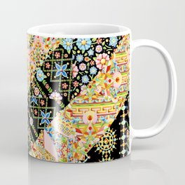 Crazy Patchwork Triangles Coffee Mug