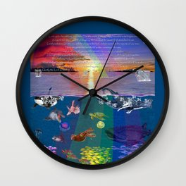 ...and the monstrous creatures of whales [full] Wall Clock