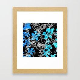 Dancing Hibiscus Hawaiian Aloha Shirt Print Framed Art Print