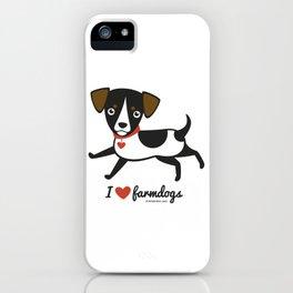 I love farmdogs iPhone Case