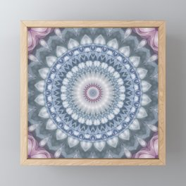 Plum and Grey Mandala Framed Mini Art Print