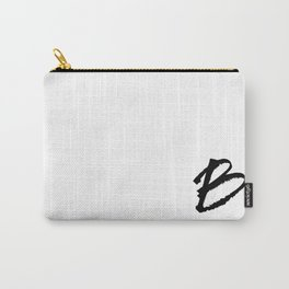 Letter B Ink Monogram Carry-All Pouch