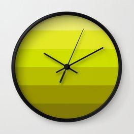 Graduated Colors in Chartruese Wall Clock
