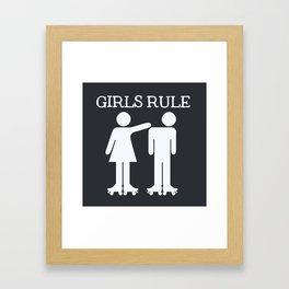 Girls Ruler Roller Derby Framed Art Print