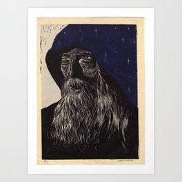 WZRD (blue) Art Print