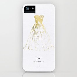 Little Gold Ball Gown Dress iPhone Case