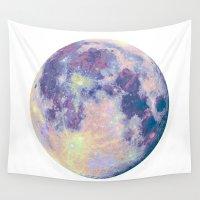 the moon Wall Tapestries featuring Moon by Marta Olga Klara