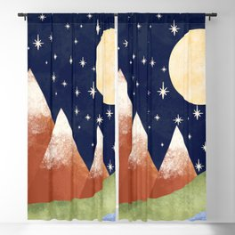 Full Moon In The Mountains Blackout Curtain
