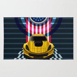 The Yellow King Corvette C7 Rug