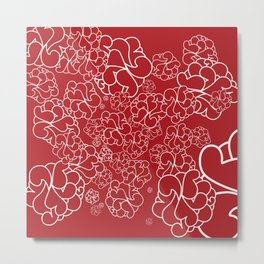 Abstract furoshiki Metal Print