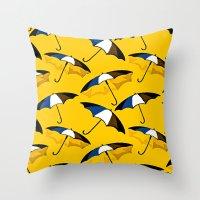 umbrella Throw Pillows featuring Umbrella  by Saundra Myles