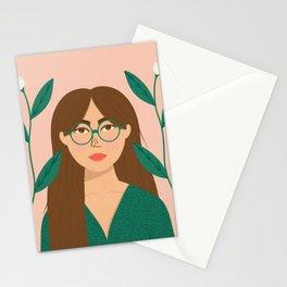 Kyoko | Modern Portrait  Stationery Cards