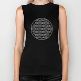Flower of life on black Biker Tank