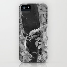 Black plume iPhone Case