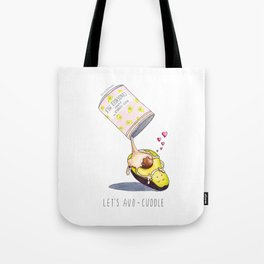 Avocado in a Sweet Avocuddle Tote Bag