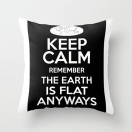 The earth is flat Throw Pillow