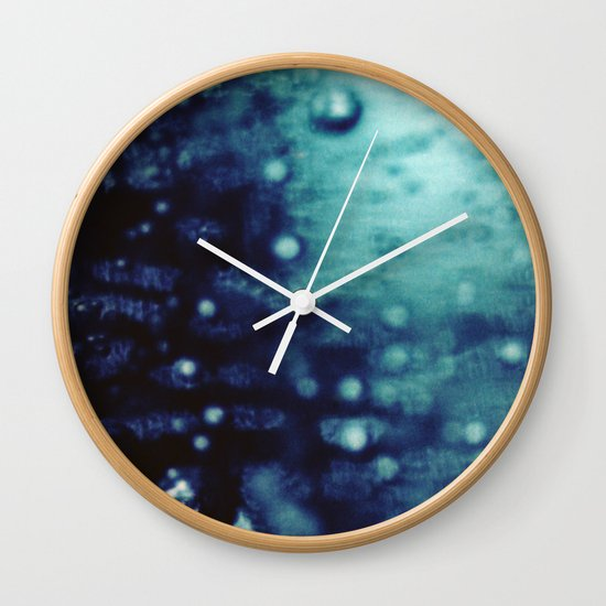 Bubbles Macro Wall Clock
