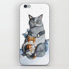 Cat family iPhone & iPod Skin