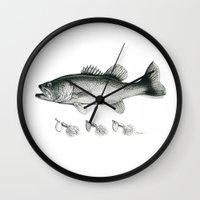 bass Wall Clocks featuring Bass by Newmanart7 -- JT and Nancy Newman, Art a