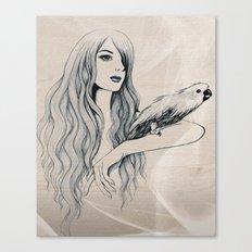 Parrot Girl 2 Canvas Print