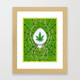 White Widow Framed Art Print
