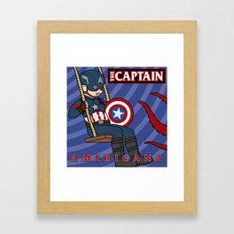 Captain Americana Framed Art Print