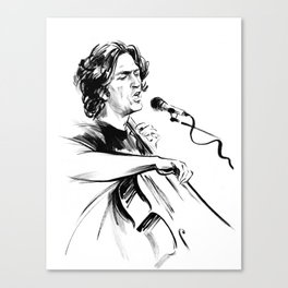 А man who sings and plays the cello Canvas Print