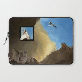 Horse and Child Children's book illustration Laptop Sleeve