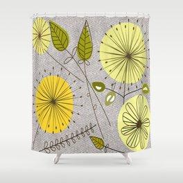 Mid-Century Modern Floral Shower Curtain