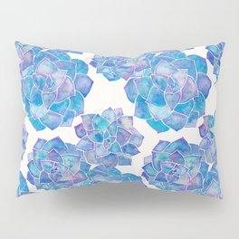 Rosette Succulents – Blue Palette Pillow Sham