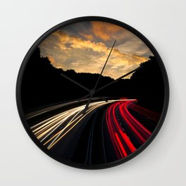 Highway to Adventure Wall Clock