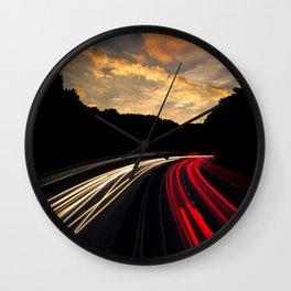 Highway to Adventure Wall Clock