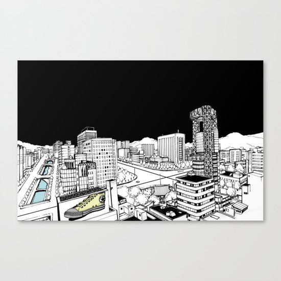 Jongro Street Canvas Print
