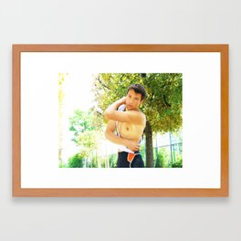 The Runner Framed Art Print